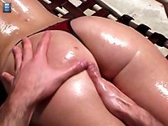 A small chested slut gets her throat plunged
