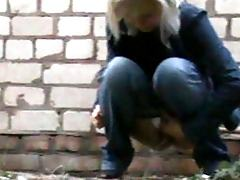 Fresh air hidden cam outdoor pissing mix