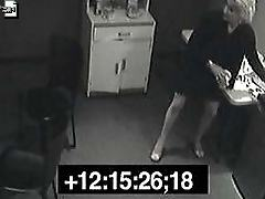 Office escapades caught by the security cameras